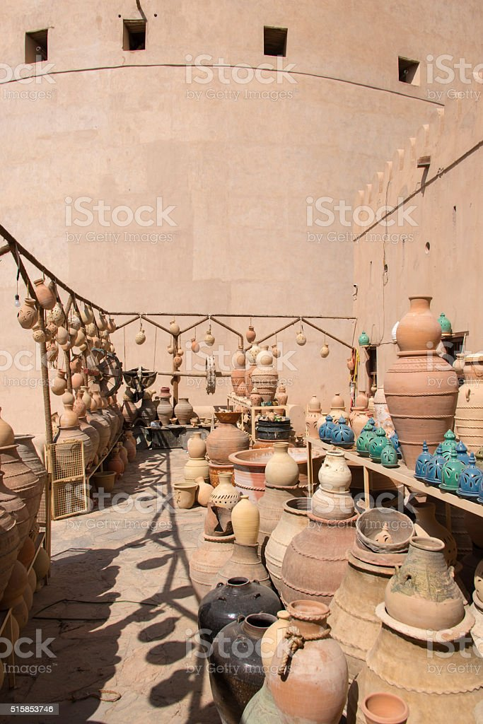 Pottery and ceramics stock photo