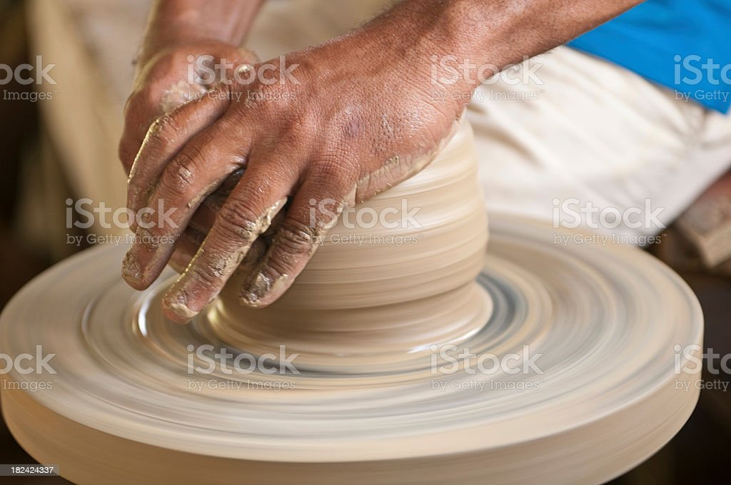 Pottery artist royalty-free stock photo