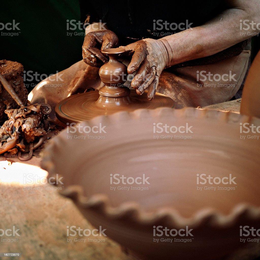 Pottery craftsman royalty-free stock photo