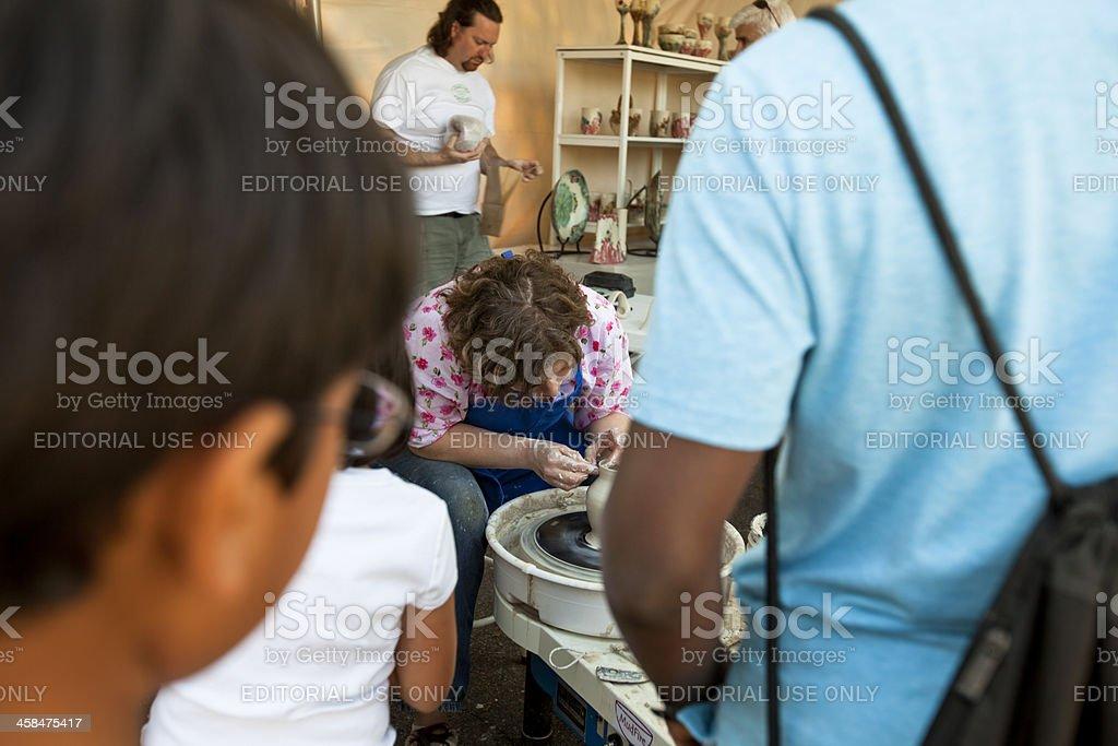 Pottery demonstration stock photo