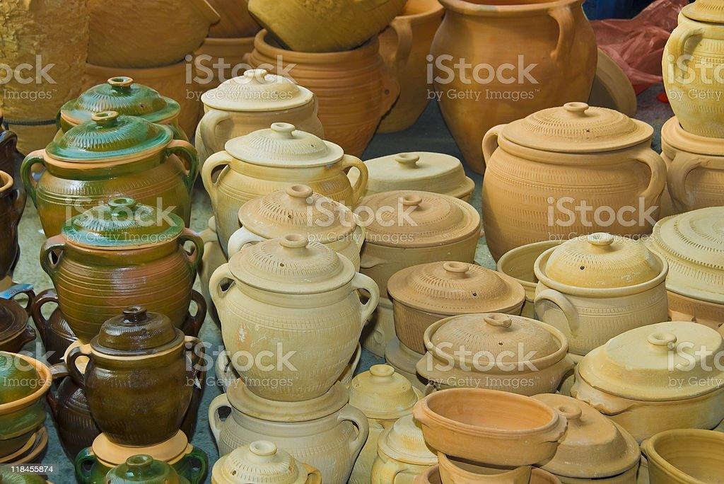 Pottery earthenware stock photo
