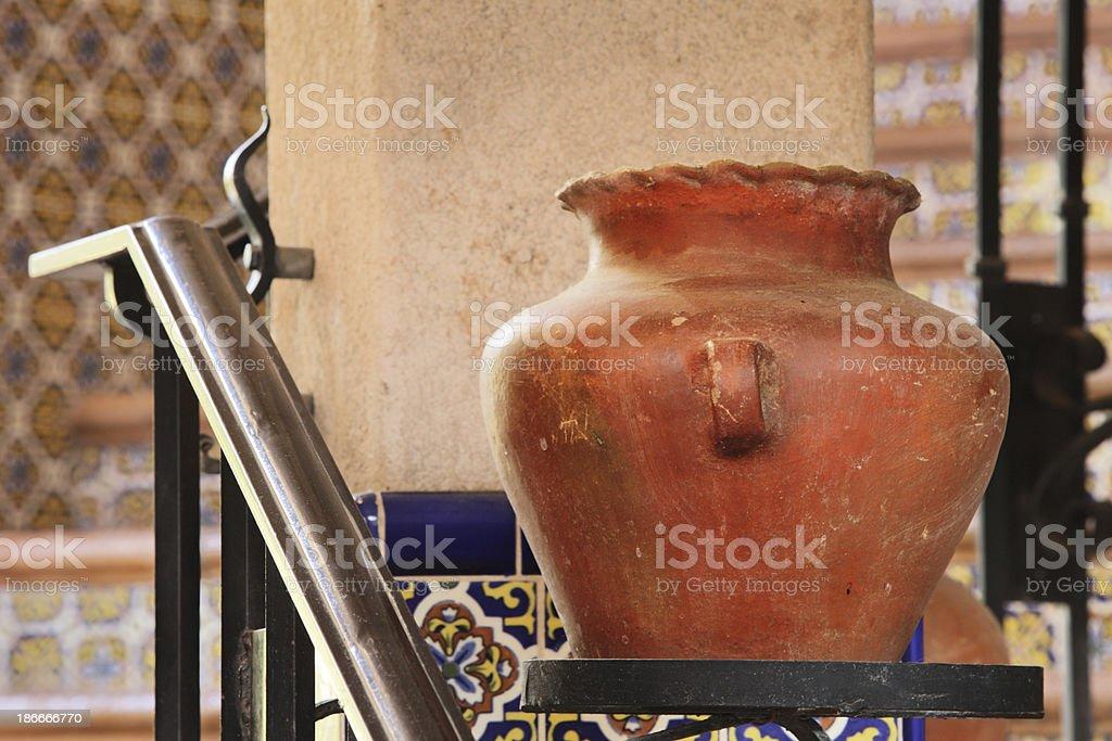 Pottery Earthenware Terracotta Urn Vase Decor royalty-free stock photo