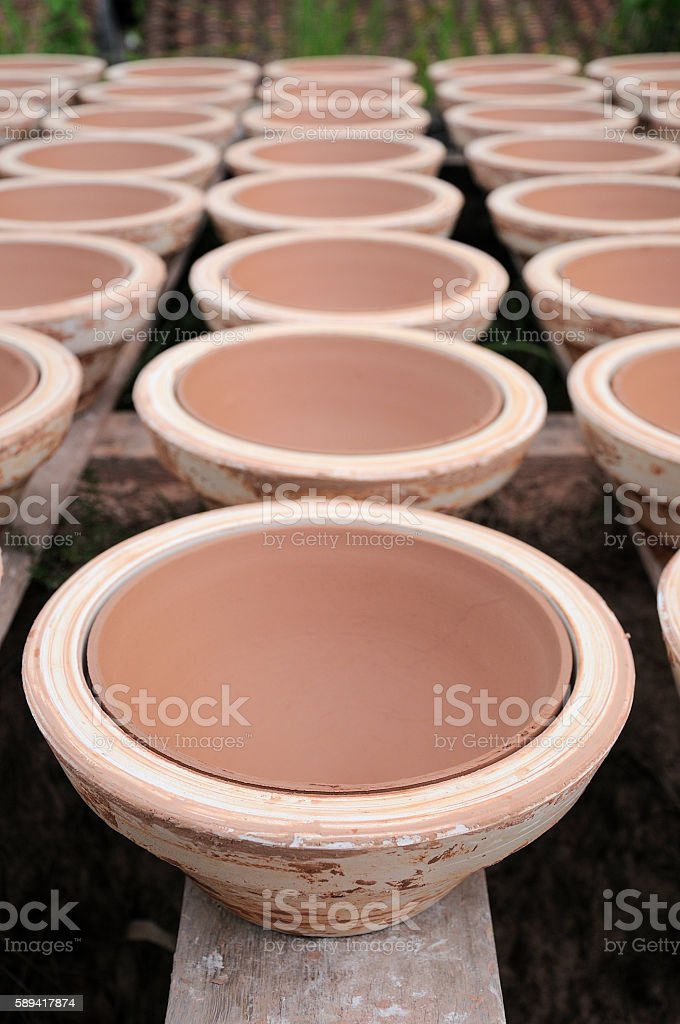 Pottery in Binh Duong province, Vietnam stock photo