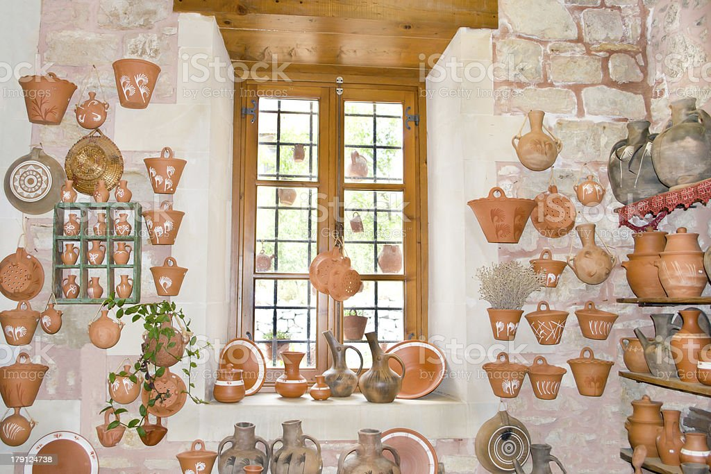 Pottery in Margarites. royalty-free stock photo
