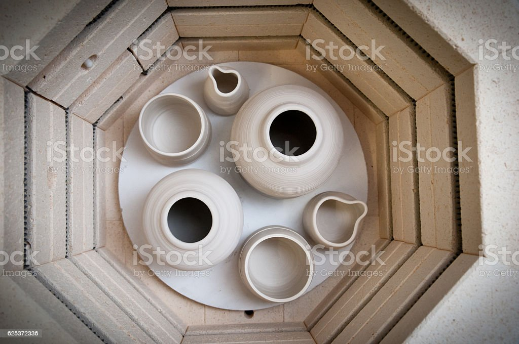 Pottery making kiln stock photo