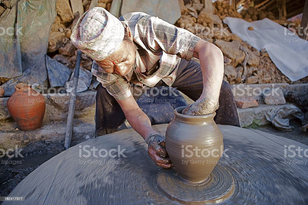 Pottery making royalty-free stock photo