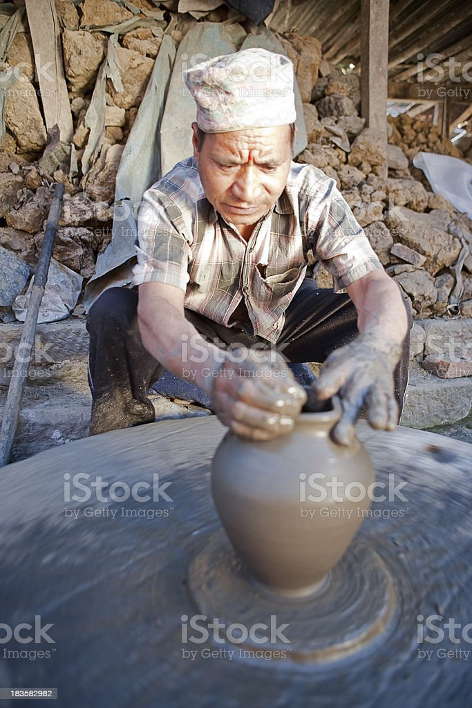 Pottery making royalty-free stock photo