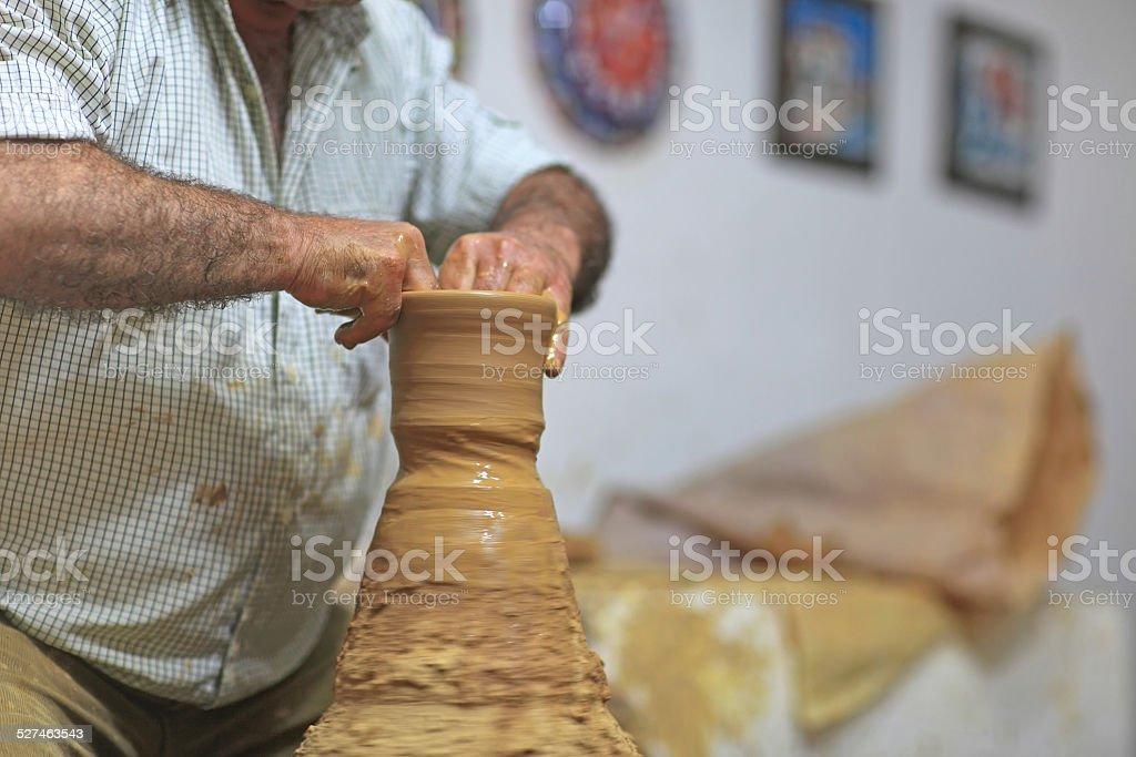 Pottery Making stock photo