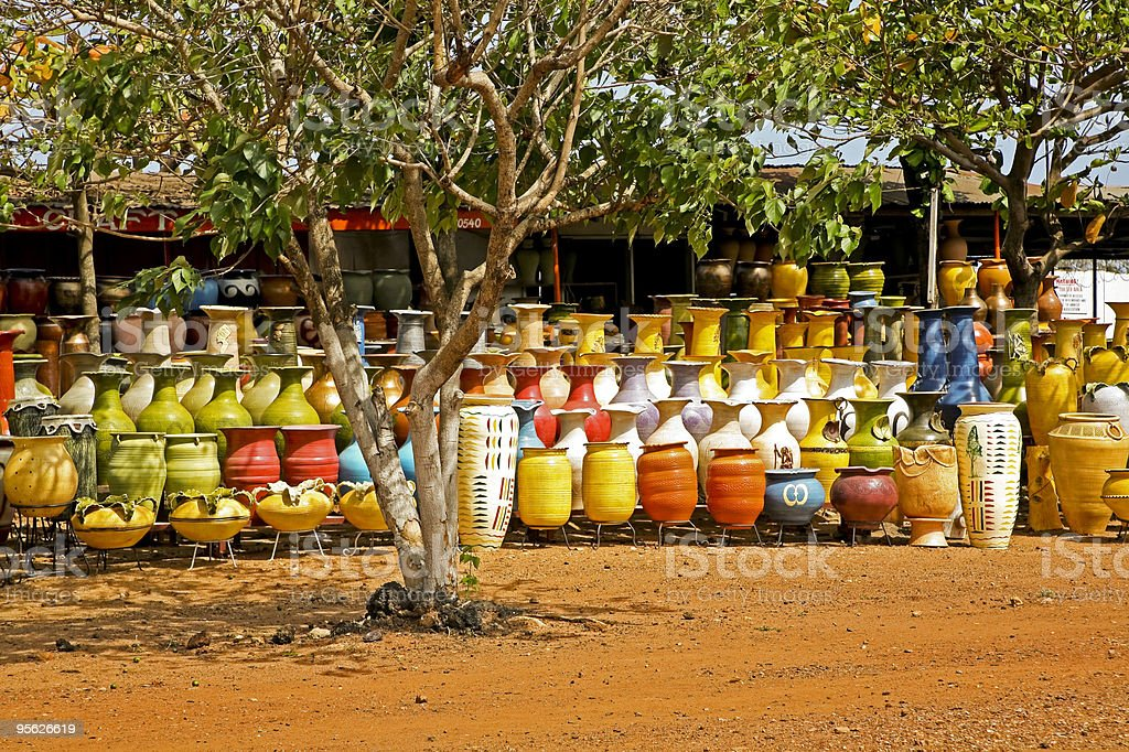 Pottery Market in Accra Ghana stock photo