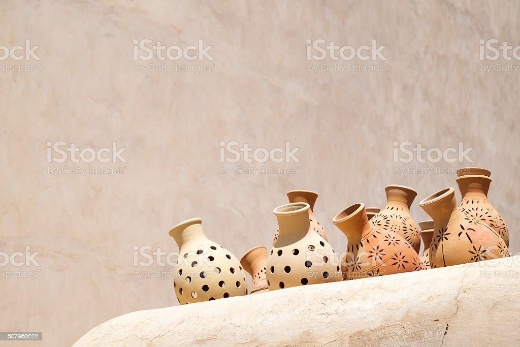 Pottery market Nizwa stock photo