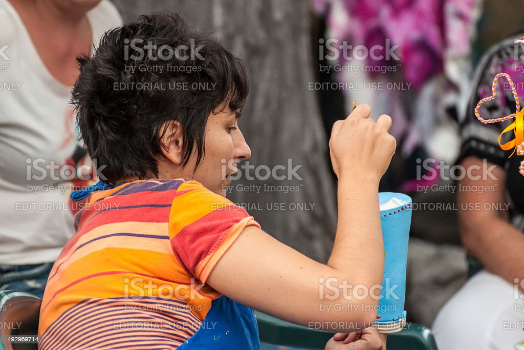 Pottery painting stock photo
