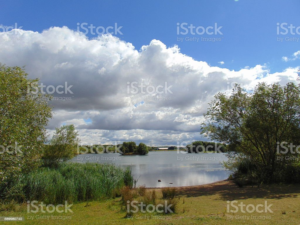 Pottery Pond stock photo