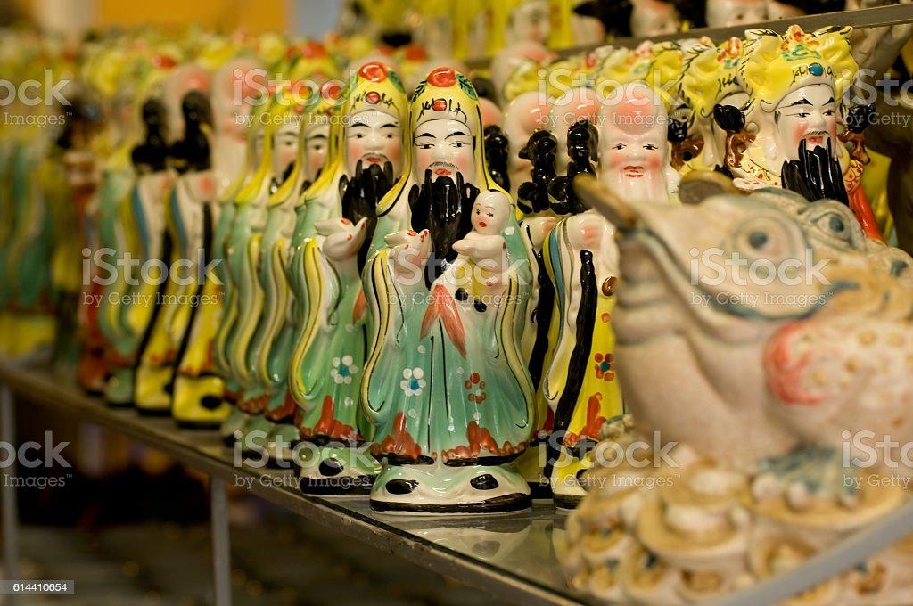 Pottery products in Bat Trang ceramic village, near Hanoi, Vietnam stock photo