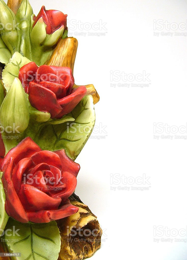Pottery roses royalty-free stock photo