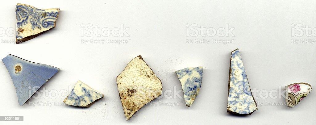 Pottery Shards (2) stock photo
