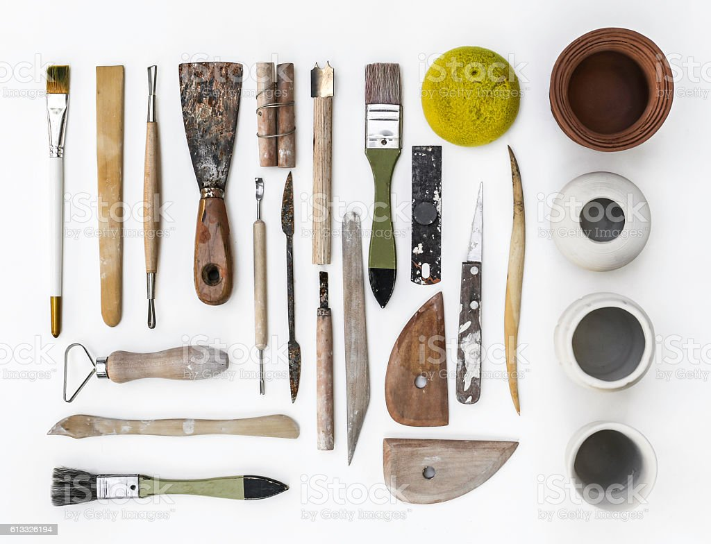 Pottery Tools stock photo