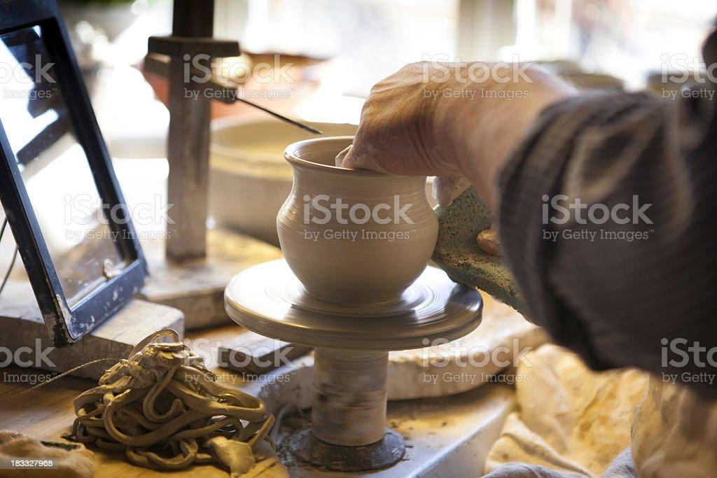 Pottery wheel royalty-free stock photo