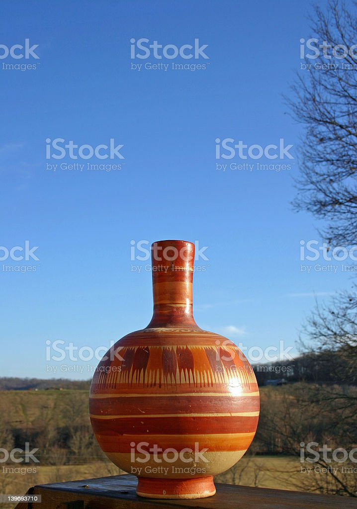 Pottery with blue sky background royalty-free stock photo