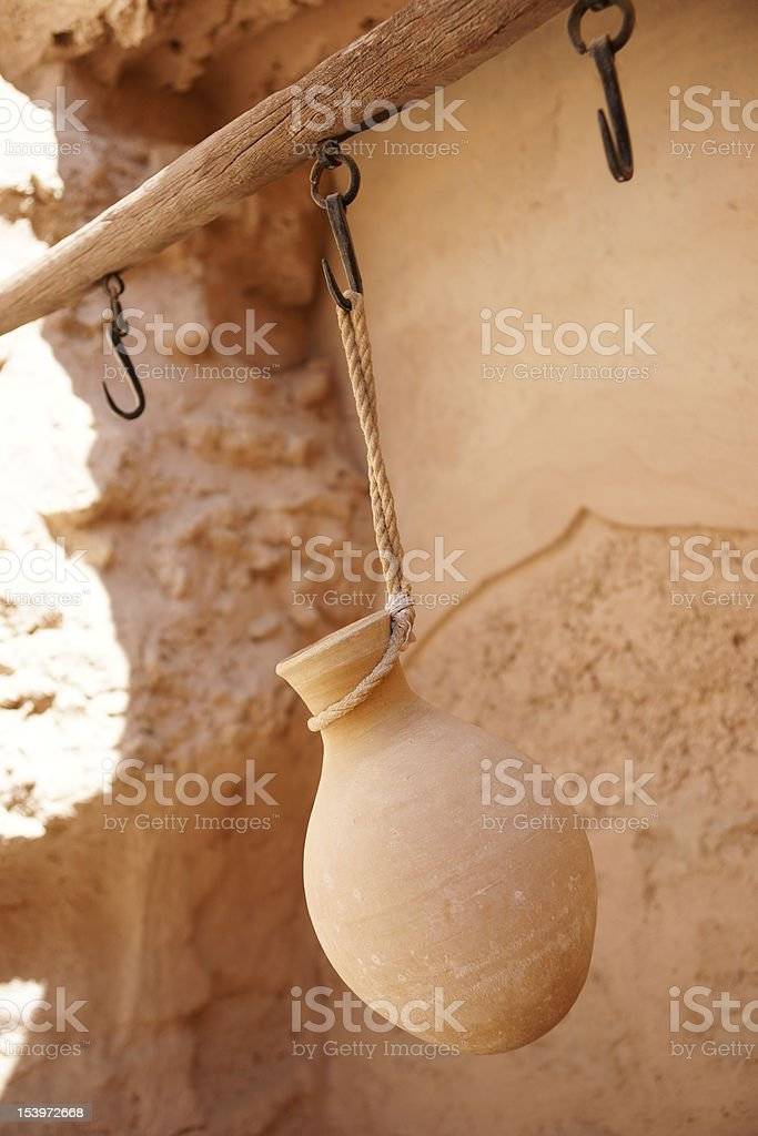 Pottery-making in Oman, Middle East stock photo
