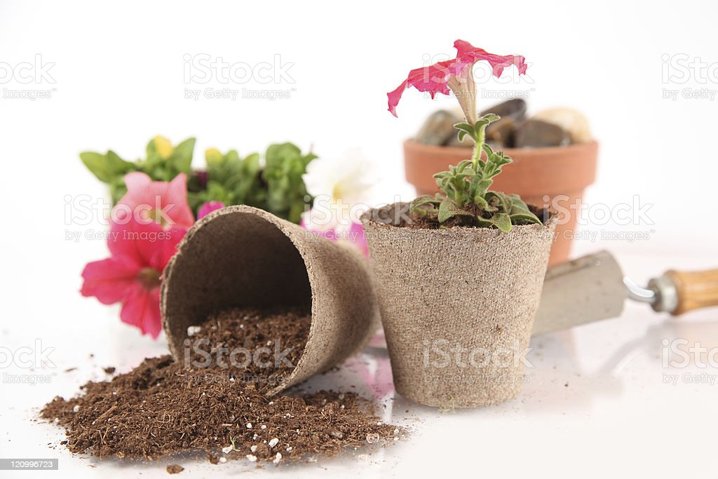 Potting Bench stock photo
