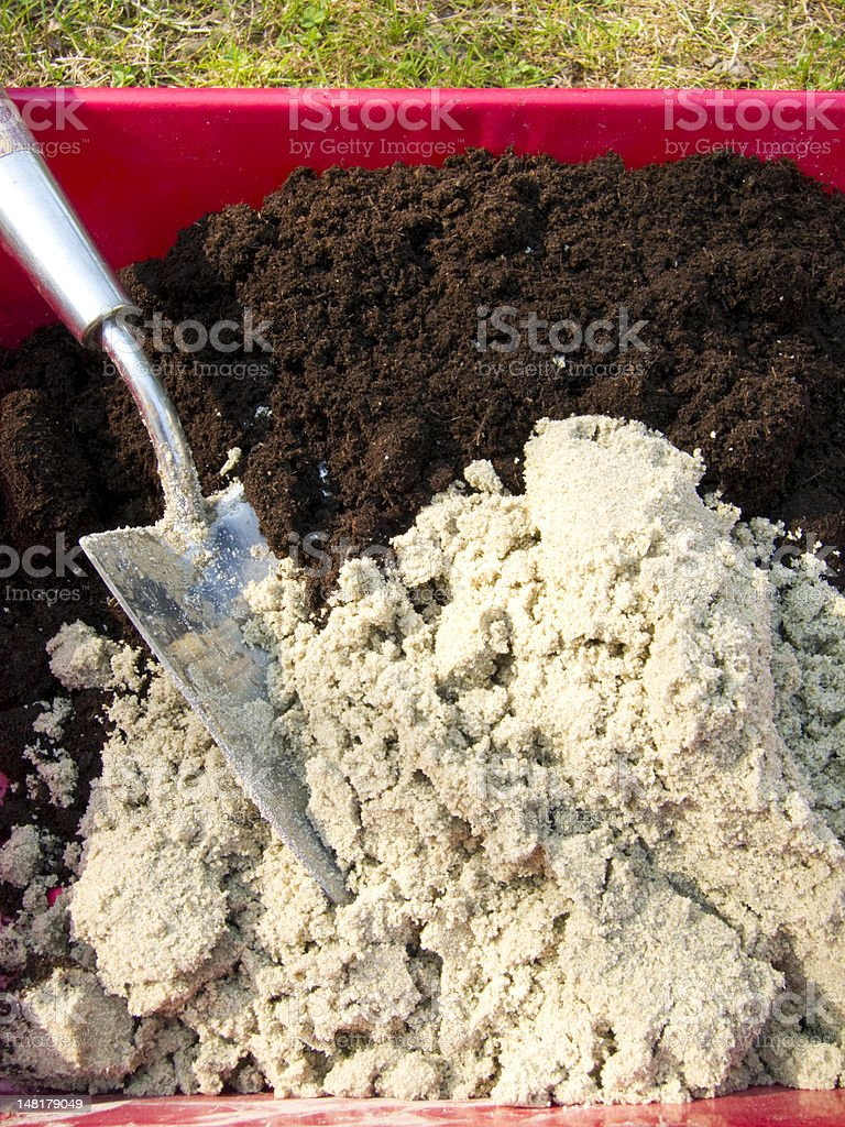 Potting compost stock photo
