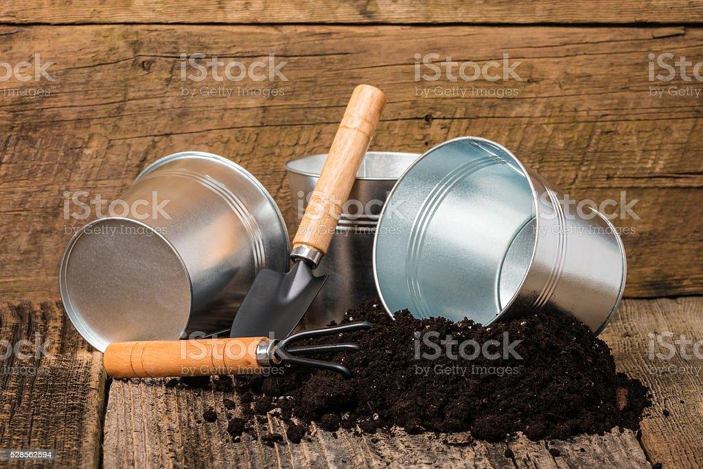 Potting Soil stock photo