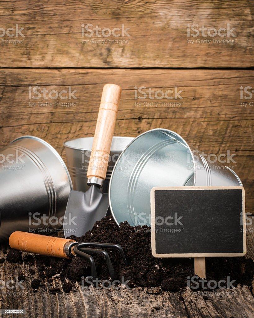 Potting Soil Portrait stock photo
