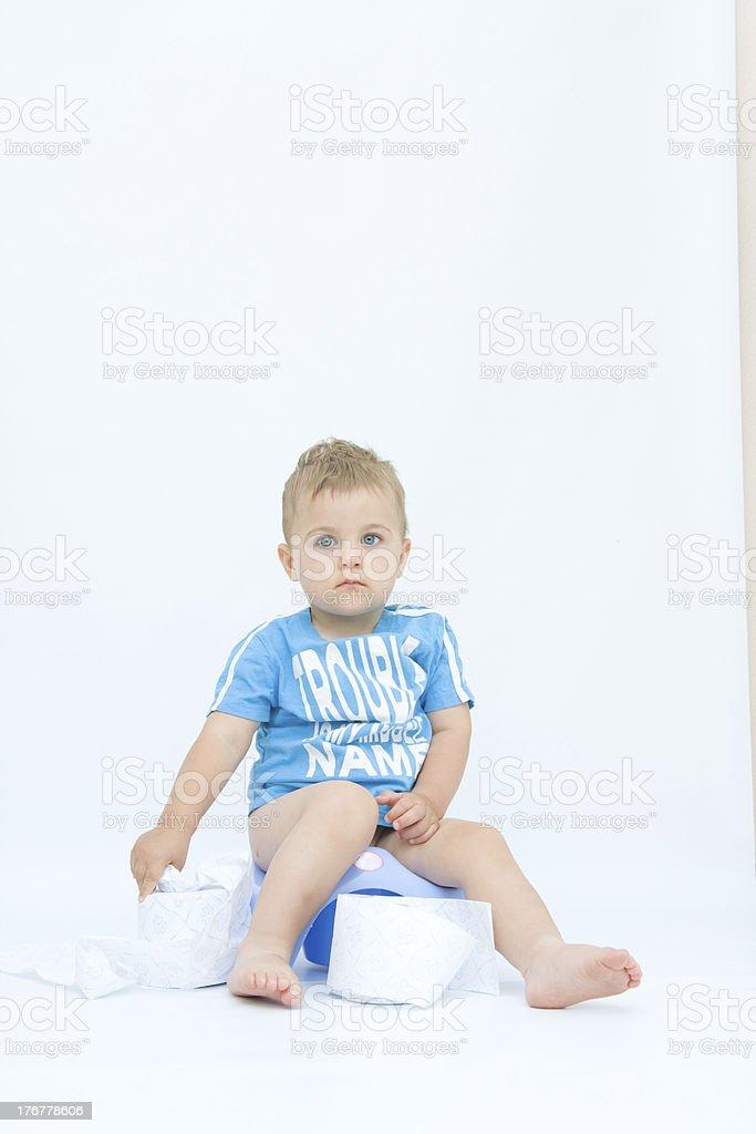 potty training royalty-free stock photo
