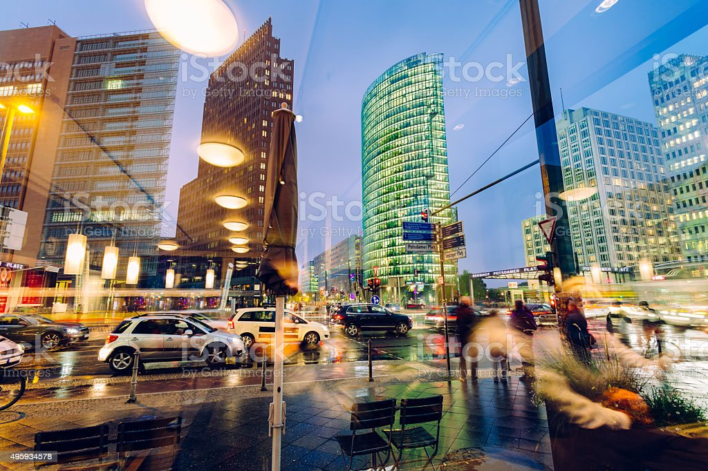 Potzdamer platz Berlin stock photo