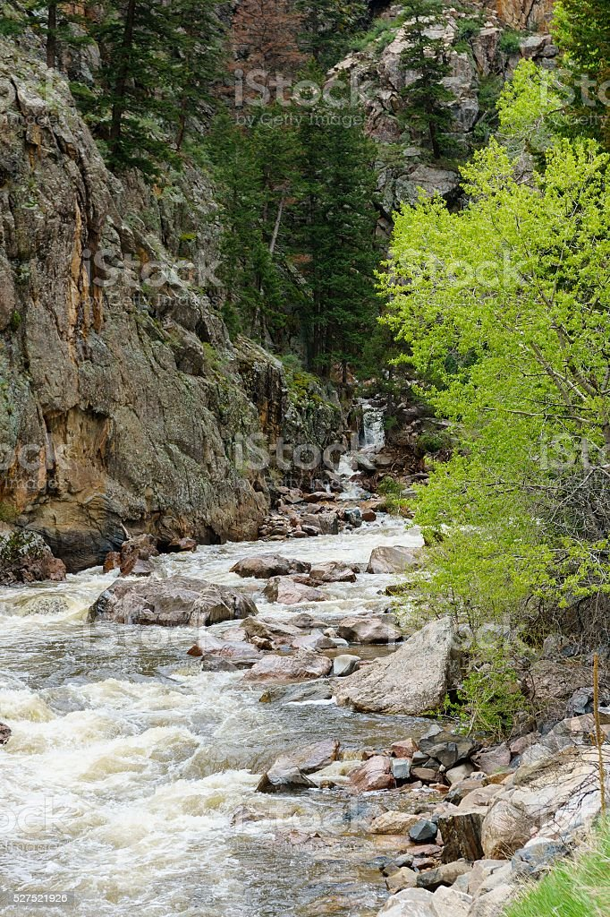 Poudre River, Fort Collins, Colorado stock photo