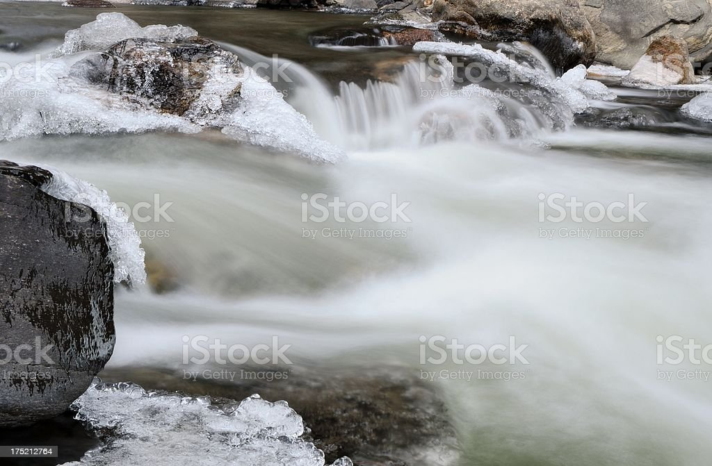 Poudre River in Winter royalty-free stock photo