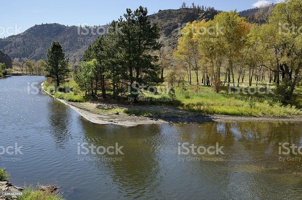 Poudre River stock photo