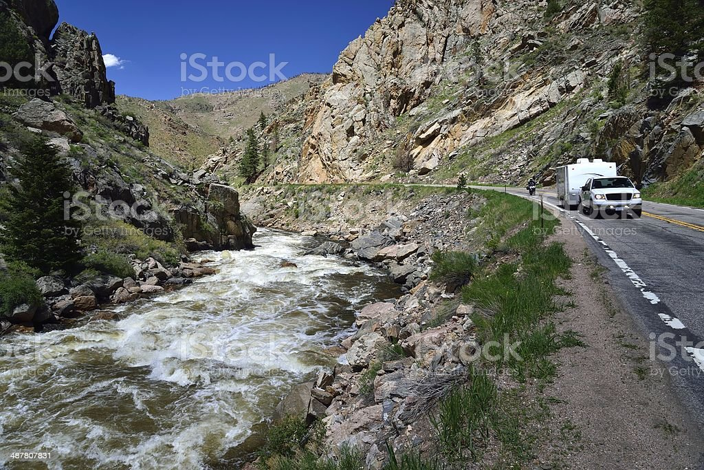 Poudre River stock photo