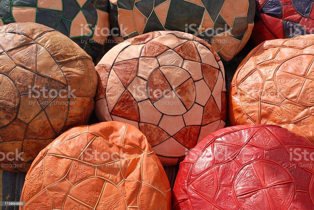 Pouffes royalty-free stock photo