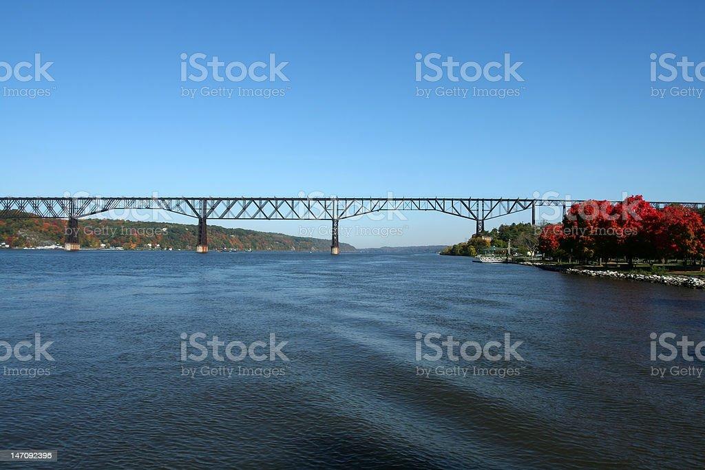 Poughkeepsie Bridge stock photo