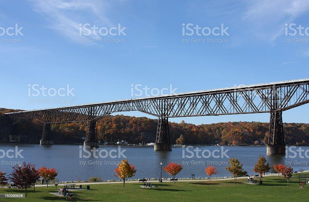 Poughkeepsie Railroad Bridge stock photo