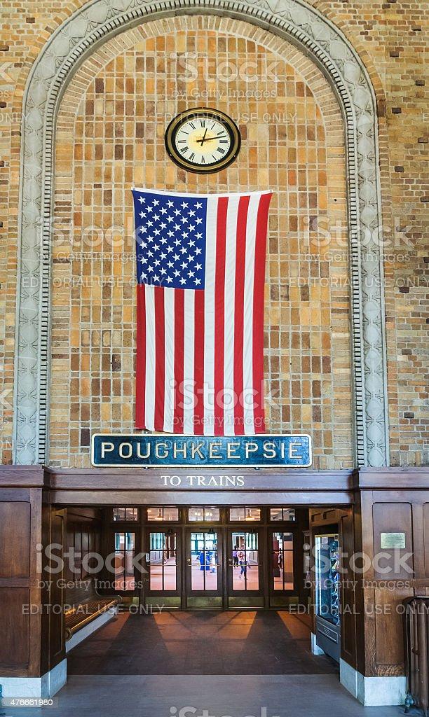 Poughkeepsie Railroad Station Entrance stock photo