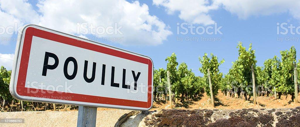 Pouilly stock photo