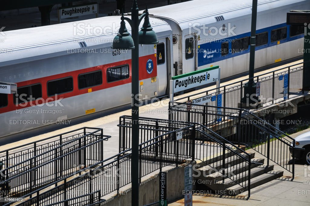 Poukeepsie Train Platform stock photo