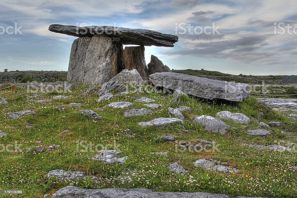 Poulnabrone Dolmen in Ireland royalty-free stock photo