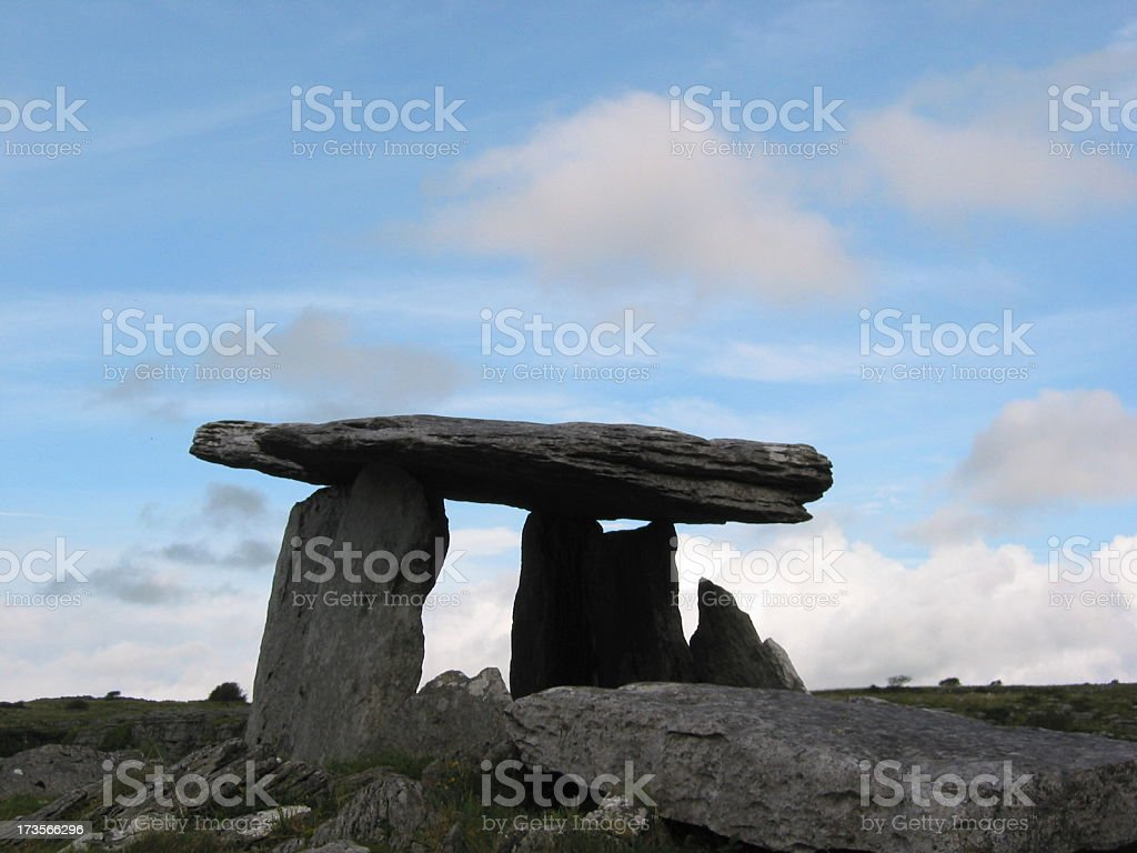 Poulnabrone Dolmen royalty-free stock photo