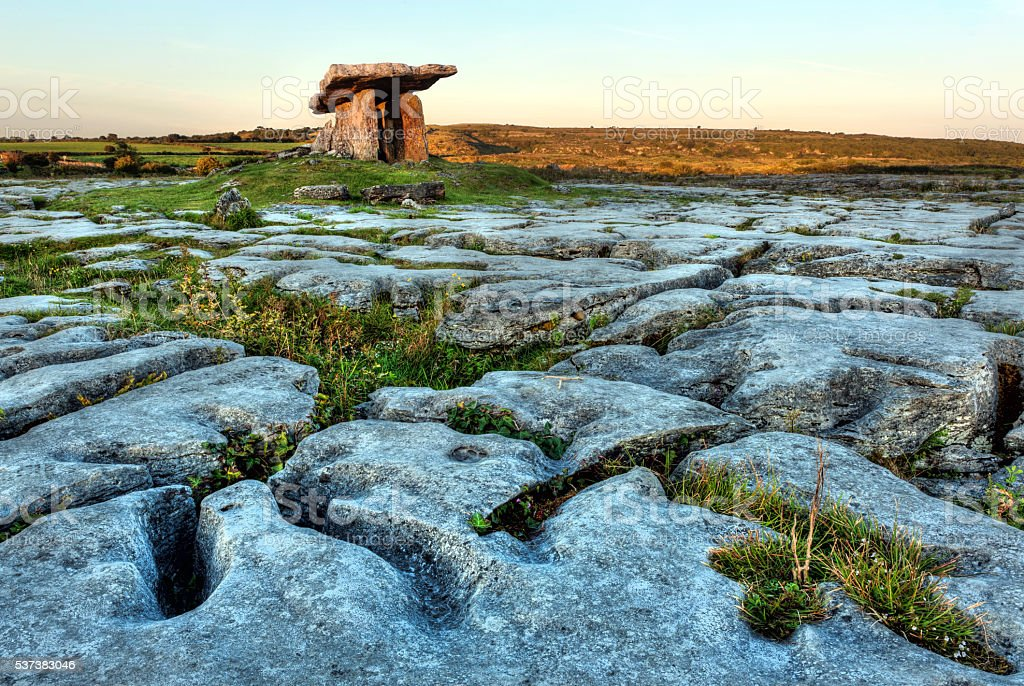 Poulnabrone dolmen stock photo