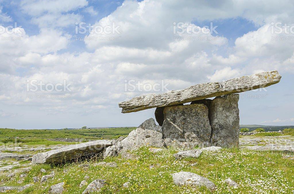 Poulnabrone Dolmen, Republic of Ireland royalty-free stock photo