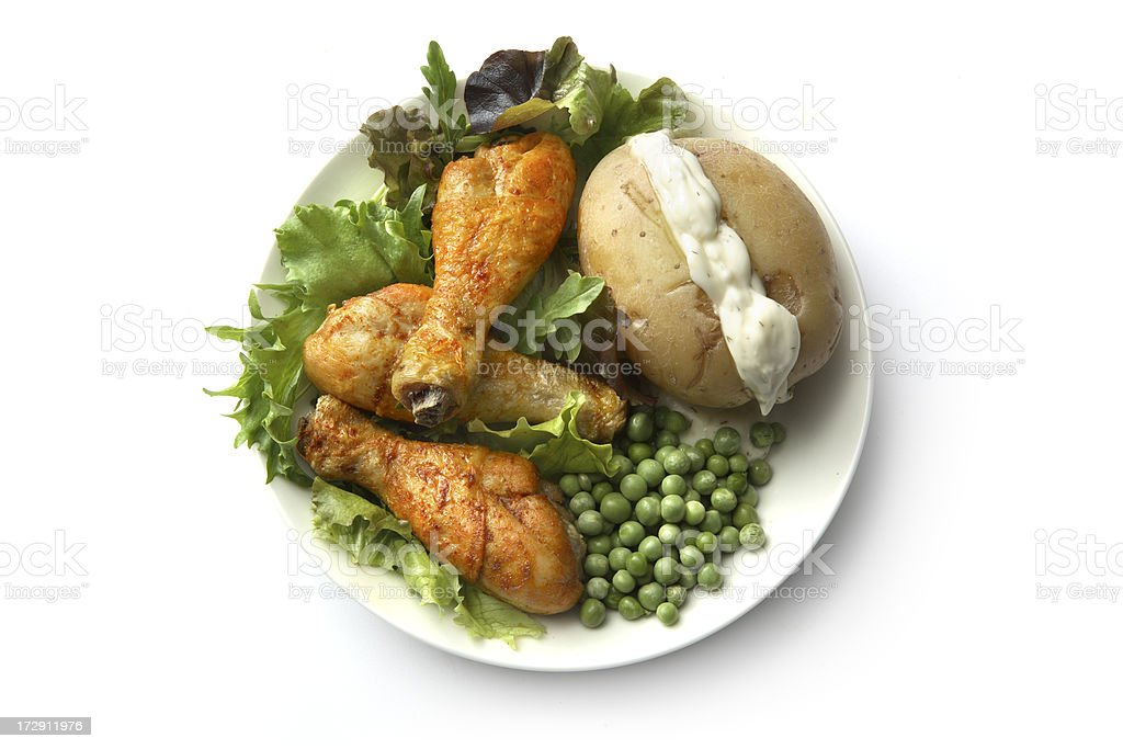 Poultry: Drumsticks royalty-free stock photo