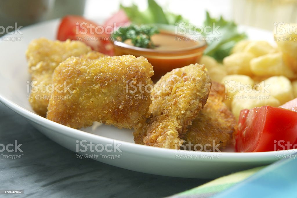 Poultry Stills: Chicken Nuggets royalty-free stock photo