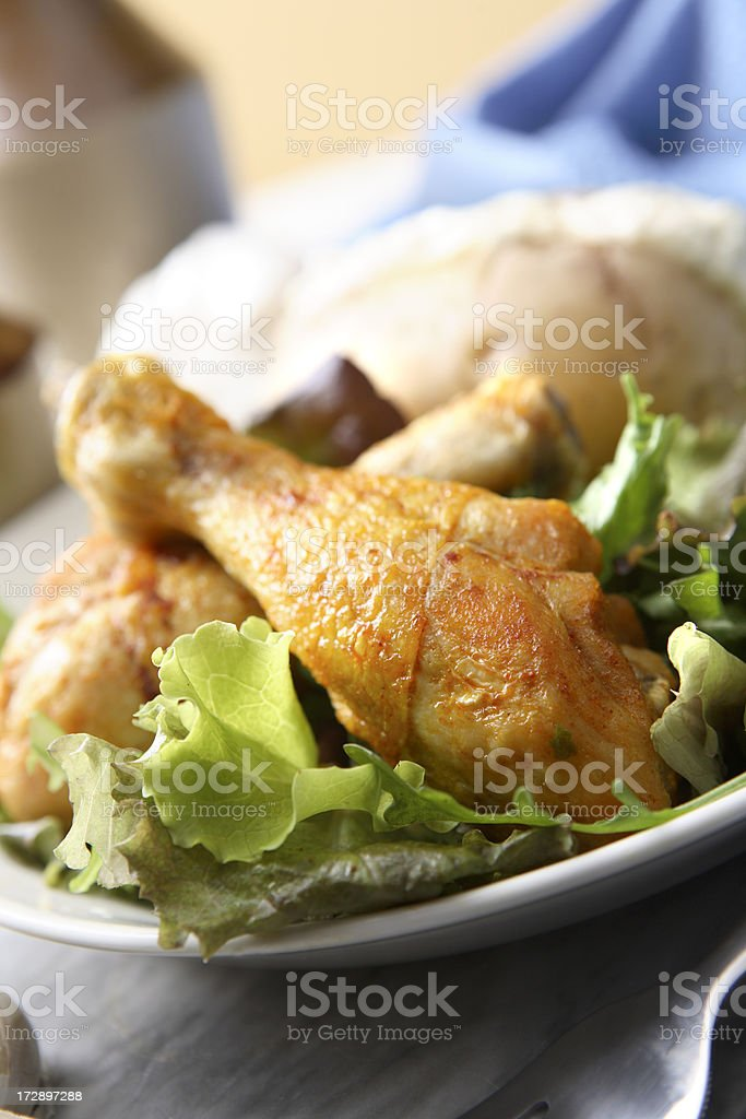 Poultry Stills: Drumsticks royalty-free stock photo