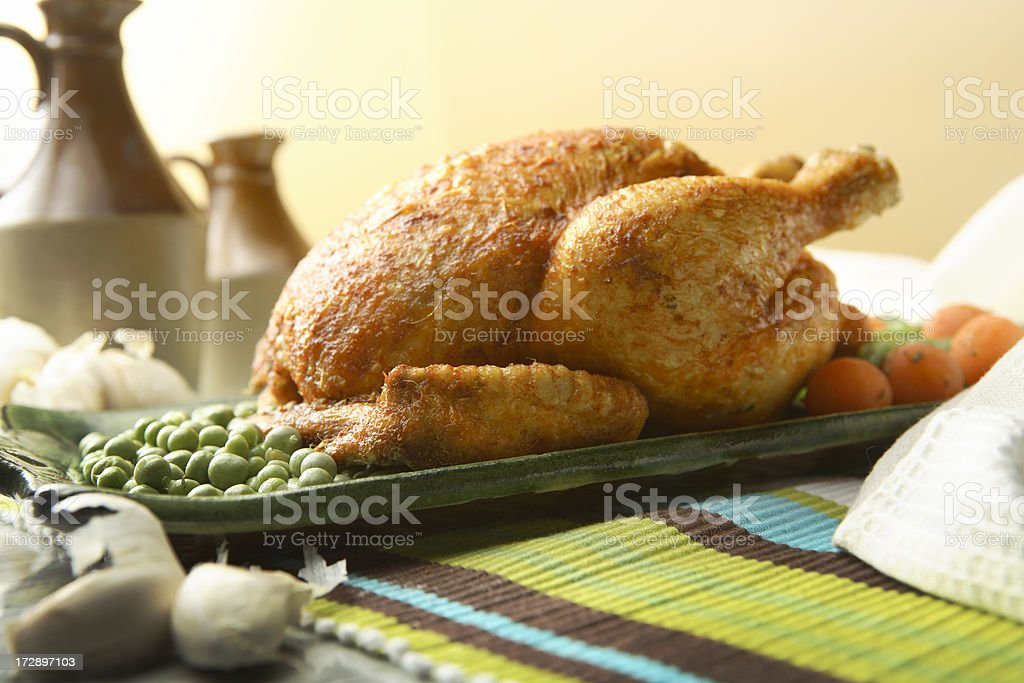 Poultry Stills: Roasted Chicken royalty-free stock photo