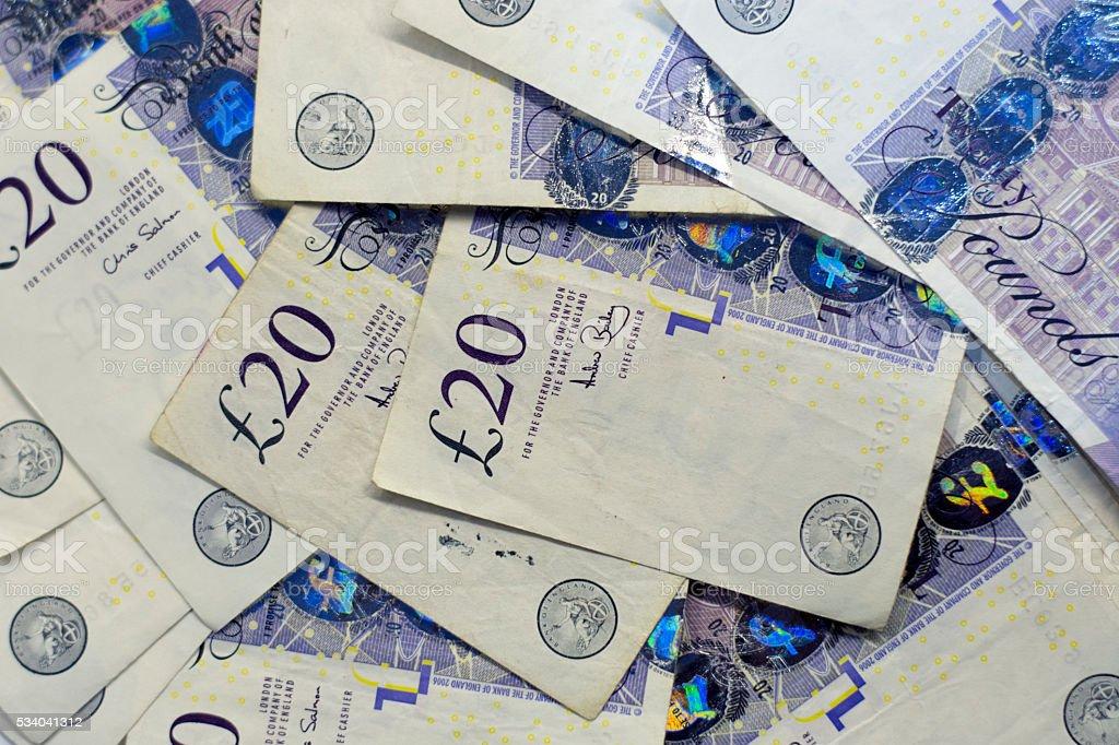 Pound banknotes stock photo