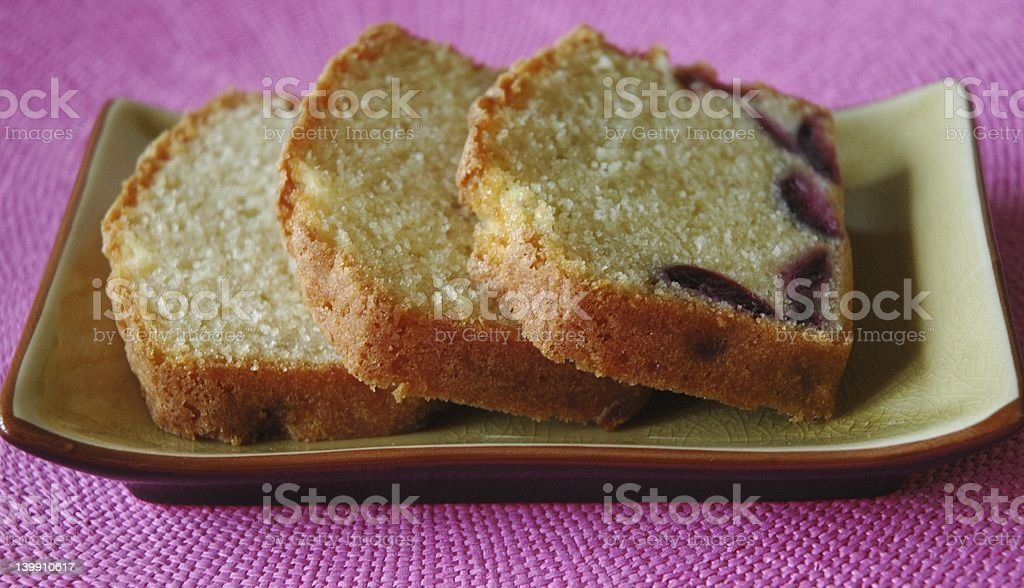 Pound cake with cherries royalty-free stock photo