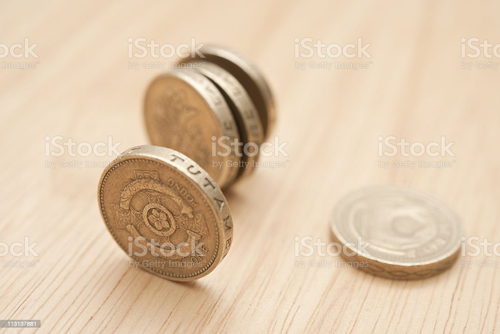 Pound Cars stock photo